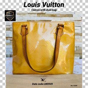 Louis Vuitton shoulder bag vernis houston yellow